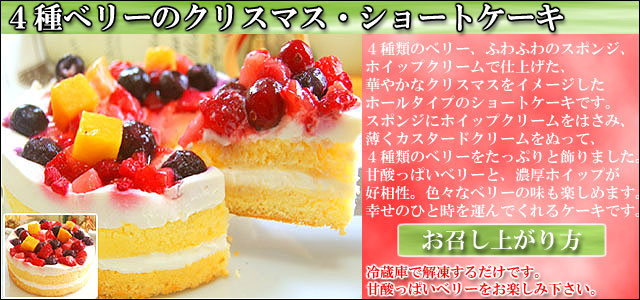 クリスマスディナーセット 通販 お取り寄せ 4種ベリーケーキ